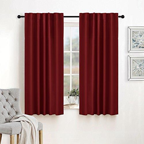 RYB HOME Room Darkening Insulated Curtain Panels  Rod Pocket