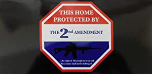 Wholesale Lot of 6 This Home Protected by The 2nd Amendment Bumper Sticker