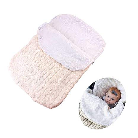 Plus - Manta de terciopelo grueso para bebé recién nacido, tejido Pawaca, suave y