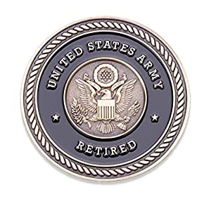 Army Retired Challenge Coin - United States Army Challenge Coin - Amazing US Army Retired Military Coin - Designed by Military Veterans! by Coins For Anything Inc