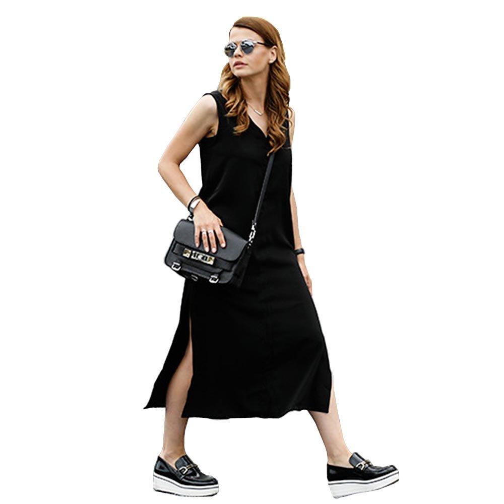 SYT Dress Camiseta Vestido de las mujeres de la playa de verano Sexy Kim Kardashian Kyliejenner lino Boho largo negro vestidos ajustados: Amazon.es: ...