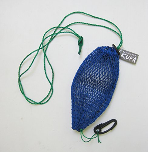 al Style Bait Bag with Rubber Locker & Hook, Blue (Crab Trap Bait)