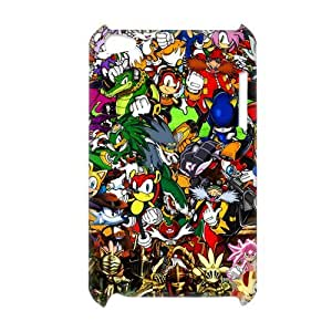3D Print Classic Video Game&Sonic the Hedgehog Series Case Cover for iPod Touch 4 - Personalized Hard Cell Phone Back Protective Case Shell-Perfect as gift