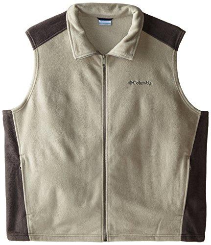 Columbia Big and Tall Men's Steens Mountain Full Zip Soft Fleece Vest, Tusk, Buffalo, 3X ()
