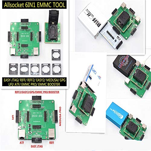 Gimax eMMC 6in1 Repair Adapter Kit Supports Medusa Pro/UFI/ATF/Easy  JTAG/RIFF/eMMC Pro eMMC Boxes Programmer for Read Write Repair - (Color:  Green