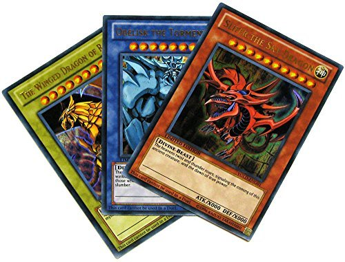 Yu-Gi-Oh Yugi's Legendary Decks Single Card Ultra Rare Yugi's God Card Set YGLD-ENG01, YGLD-ENG02 & YGLD-ENG03 [Slifer, Obelisk & Ra]