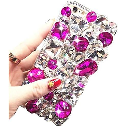 S7 Edge Crystal Rhinestone Case,Max-B LV Galaxy S7 Edge Luxury Bling Diamond Crystal Colorful Drop Transparent Sales