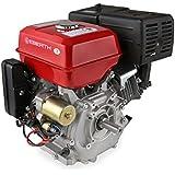 EBERTH 13 CV Motore a benzina (Avviamento elettrico e a strappo, 25 mm Albero, Motore a scoppio 4 tempi, 1 Cilindro, Raffreddato ad aria, Protezione da mancanza olio, Batteria)