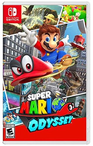 Nintendo Switch Bundle (7 items):Nintendo Switch 32GB Console Gray Joy-con,128GB Micro SD Memory Card,HDMI Cable,USB C Adapter,Screen Protector,Console Case - Red and Mario Odyssey Game Disc by Nintendo (Image #8)