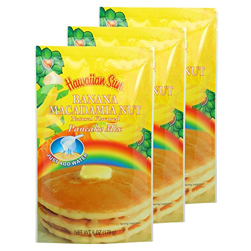 UPC 079800121307, Banana Macadamia Nut Pancake Mix, 6 Ounce (Pack of 3) by Hawaiian Sun