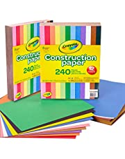 Crayola 99-0013 Construction Paper, 480 Count, 2-Packs of 240 Each, 10 Different Colors