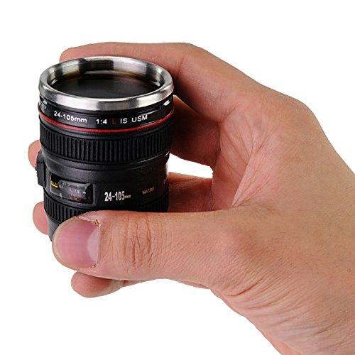 Kangkang@ Mini Camera Lens Cup 24-105mm Coffee Tea Travel Mu