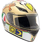 AGV K3 Chicken Full Face Motorcycle Helmet (Multicolor, Small)