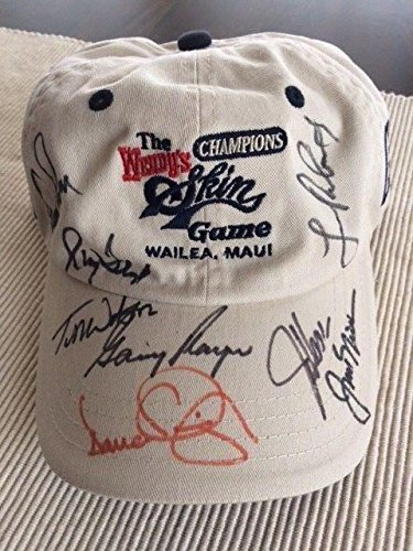 Arnold Palmer+nicklaus+player+watson+4 Hand Signed Skins Game Hat+coa Rare - Autographed Golf Hats and Visors