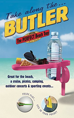 Butler Drink Holder - BUTLER Beach Tray -- Set of 4 -- The Original, Award-Winning, Portable Beach & Beverage Trays
