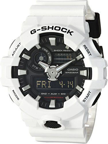 Casio Men's 'G SHOCK' Quartz Resin Casual Watch, Color:White (Model: GA-700-7ACR) (G Shock Watches For Men White)