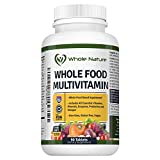 Cheap Whole Food Multivitamin for Men and Women : Whole Nature Complete Daily Superfood Vitamins plus Minerals Digestive Enzymes, Probiotics and Omegas. Plant based Multi Vitamin, Non GMO Gluten Free,Vegan