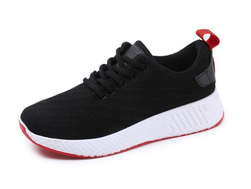 XIE Zapatos de Mujer de Gran Tamaño Pareja de Ocio de Viaje Salvaje Blanco Transpirable Zapatillas de Deporte de Verano de Las Mujeres Zapatos 35-39, Black, 39 39|black