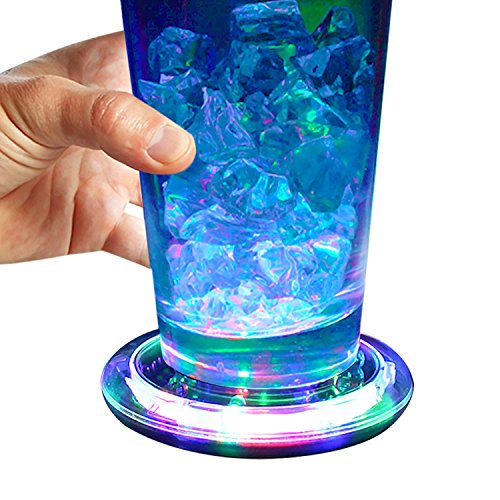 Flashing Panda LED Light-Up Flashing Multi-Color Infinity Tunnel LED 3.75 in. Drink Coaster or Display Base