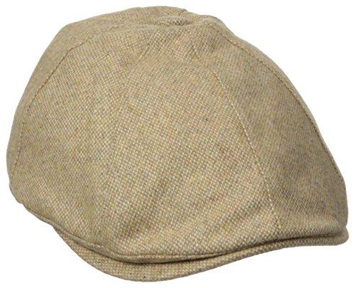 (Henschel Men's Wool Tweed Ivy Hat with Satin Lining, Beige,)