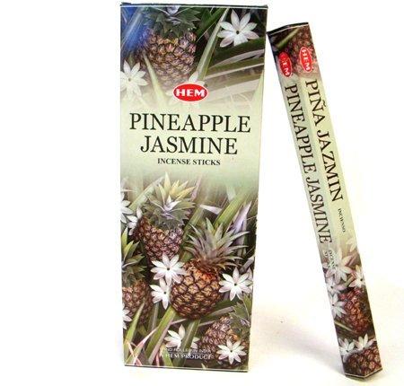 Incense Tropical (Pineapple Jasmine - Box of Six 20 Stick Tubes, 120 Sticks Total - HEM Incense)