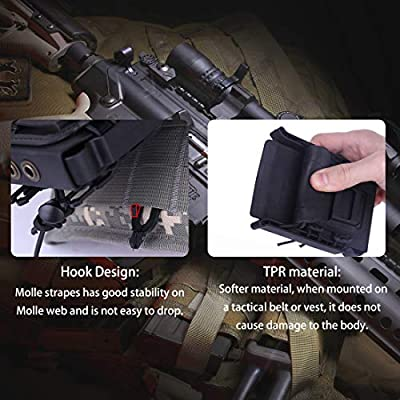 FenglinTech 2PCS Mag Pouch Molle Fastmag for 5.56 7.62 Magazine - (Black): Toys & Games
