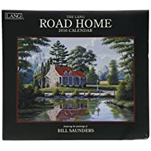 Perfect Timing Lang Road Home 2016 Wall Calendar by Bill Saunders, January 2016 to December 2016, 13.375x24-Inch (1001938)