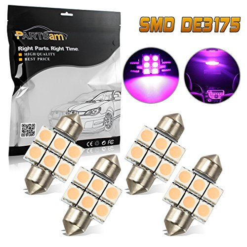 (Partsam 4PCS 31mm Festoon Interior Dome Map LED Light Lamp Bulbs 3021 3022 DE3175 for 1999-2011 Honda Odyssey)