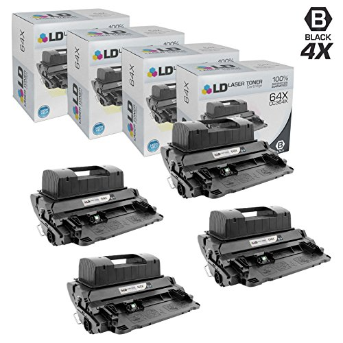 (LD Compatible Replacement for HP 64X/CC364X High Yield Black Toner Cartridges (4 Pack) for LaserJet P4015dn, P4015n, P4015tn, P4015x, P4515n, P4515tn, P4515x & P4515xm)