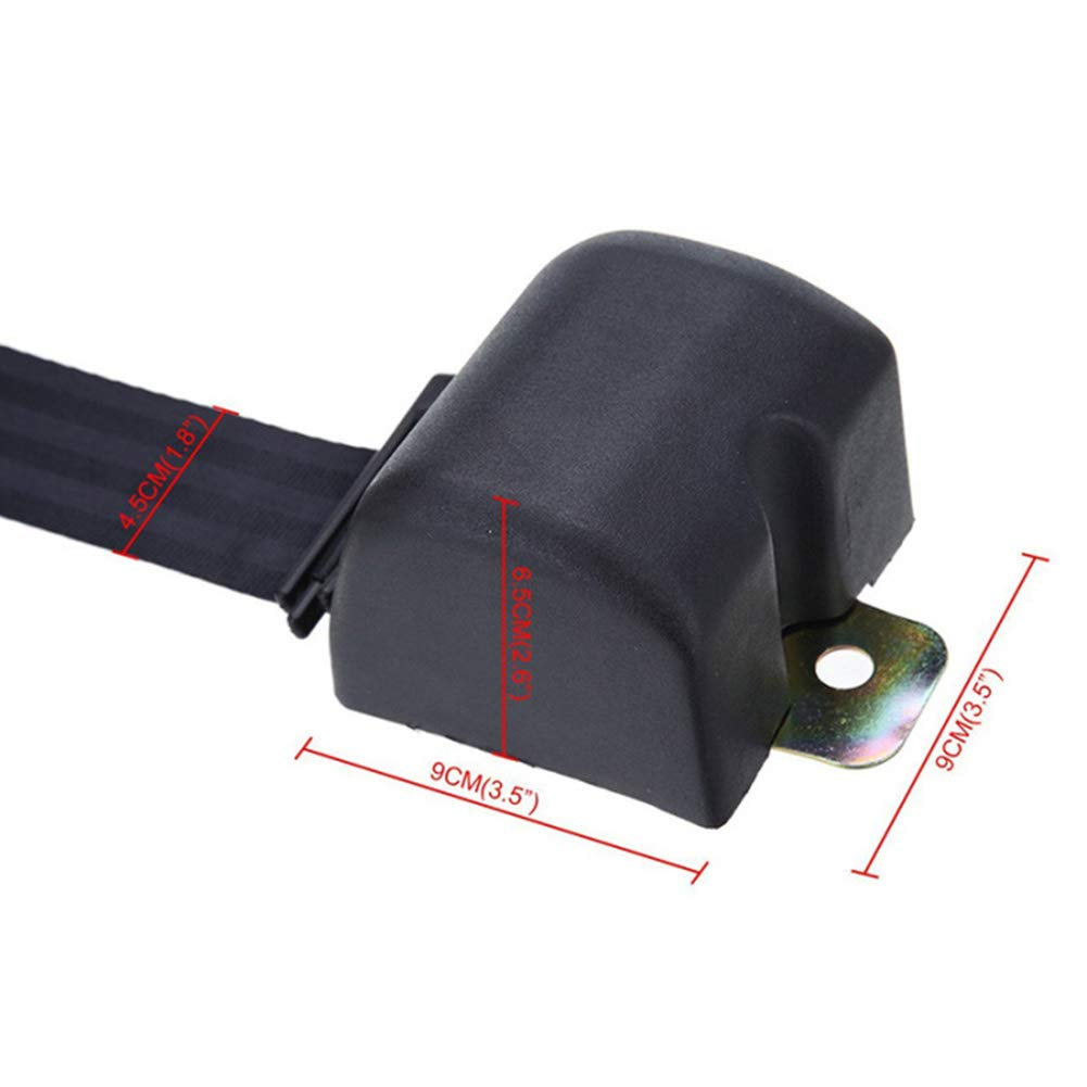 Pywee Universeller Dreipunkt-Automatikgurt Verstellbarer Sicherheitsgurt mit Cam Lock f/ür Wohnmobile