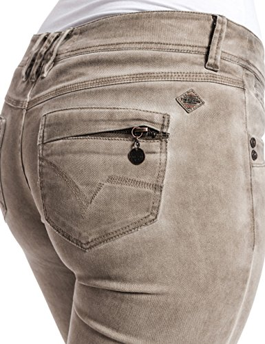 Timezone AureliaTZ  5-pocket pants - Pantalones para mujer, color beige (natural beige 6173), talla 42