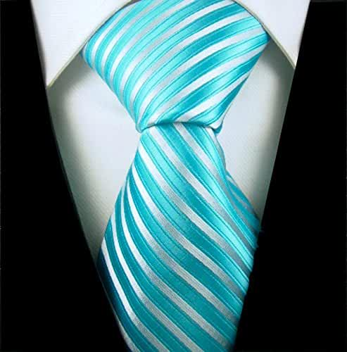 Scott Allan Mens Striped Necktie