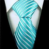 Neckties By Scott Allan - Turquoise & Silver Men's Tie
