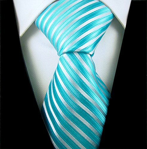 Neckties By Scott Allan - Turquoise & Silver Men's Tie -