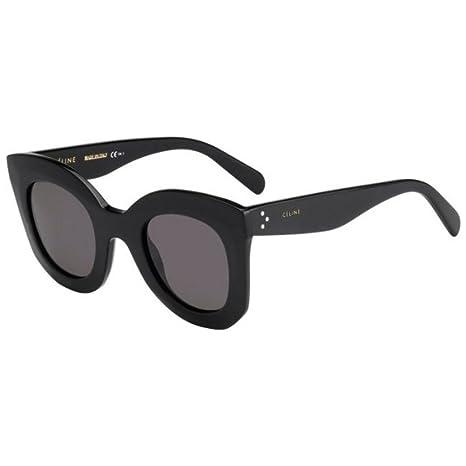 da7b2d6672 Celine Women s 41093S 41093 S 807 BN Black Retro Fashion Sunglasses 46mm   Amazon.ca  Luggage   Bags