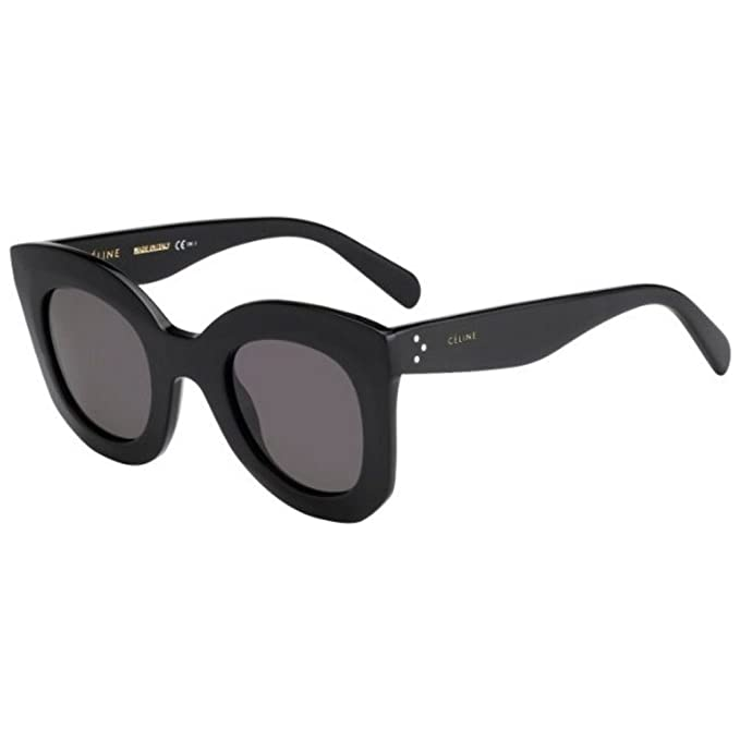 432a07a8c Céline - MARTA CL 41093/S, Cat eye, acetato, donna, BLACK/DARK  GREY(807/BN), 46/28/145: Amazon.it: Abbigliamento