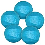 Just Artifacts - Criss Cross Paper Lanterns (Set of 5, 14inch, Turquoise Blue) - Click For More Colors & Sizes!