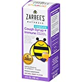 Zarbee's Naturals Children's Complete Daytime Cough Syrup + Immune with Dark Honey & Elderberry, Natural Berry Flavor, 4 Ounce Bottle