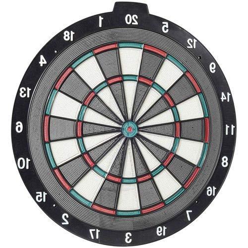 HealthyBells Soft Tip Dartboard and Darts Set, 18
