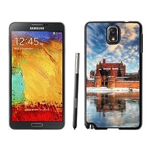 NEW Custom Designed For Iphone 5C Case Cover Phone With Malbork Castle Poland Frozen Lake_Black Phone