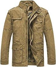 Heihuohua Men's Cotton Stand Collar Lightweight Military Windbreaker Ja