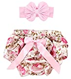 Toptim Baby Girl's Bloomer + Headband Set (2 Pack) S