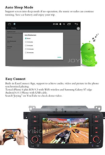 JOYING 7 inch GPS Radio Android Car Stereo for BMW E46 3 - Import