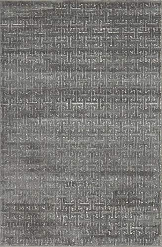 Unique Loom Uptown Collection by Jill Zarin Collection Textured Solid Geometric Modern Gray Area Rug (4' 0 x 6' 0) (Zara Rug Collection)