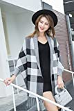 Generic 2018 autumn and winter in Europe and America thick plaid shawl fringed cape sleeves to increase women girls lady warm scarves