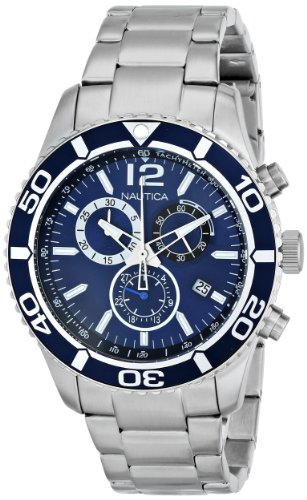Nautica Men's N16665G NST 09 Stainless Steel Watch