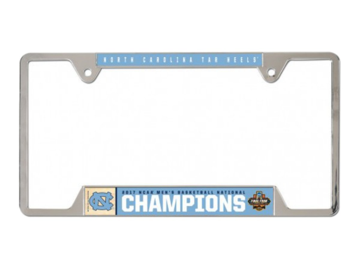 North Carolina Tar Heels公式NCAA Championship Basketball Champs 2017ライセンスプレートフレームメタルby WinCraft 373281   B06Y4DZBFQ