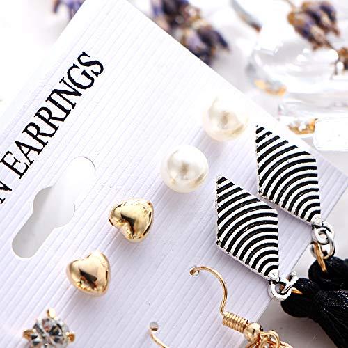 Wansan 6 Pair Tassel Earrings Sets for Women Girls Fish Mouth Fringe Earrings Bohemian Dangle Drop Stud Earrings Fashion Jewelry Valentine Birthday