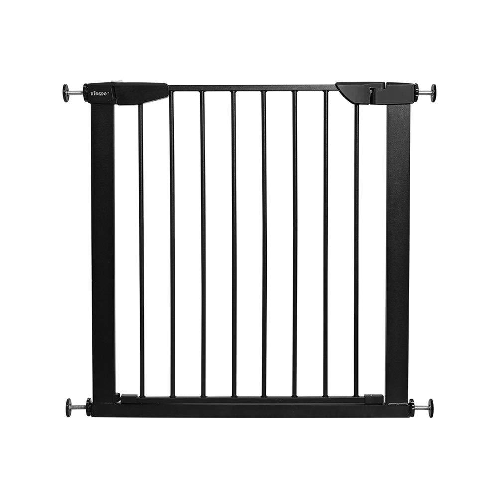 階段門ペットフェンス - 幅拡張式圧力インストール(ブラック75-82CM * 75CM)   B07V6V6NWH
