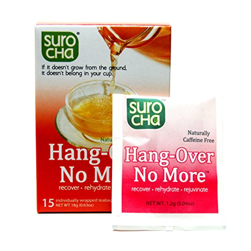 Suro Cha Hang-Over No More, 15 teabags (Best Tea For Hangover)